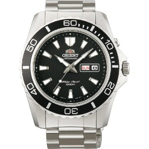 オリエント 時計 メンズ 腕時計 Orient #FEM75001B Men's Mako XL Stainless Steel Black Dial Automatic Dive Watch
