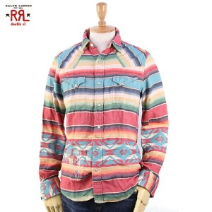 RRL (double RL) Native Flannel Western Shirts ダブルアール ネイティブ柄 ウェスタンシャツ