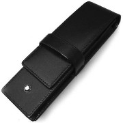 Montblanc(モンブラン) Siena 2 Pen Pouch Black シエナ 2本差し牛革ペンケース
