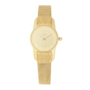 オバック レディース 腕時計 Obaku Women's Quartz Watch with Gold Dial Analogue Display and Gold Stainless Steel...