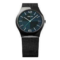 BERING Mens Sapphire Glass Titanium Polar Night Cross(32039-227 ブルー×ブラック)