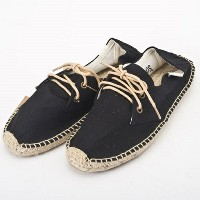 SOLUDOS ソルドス エスパドリーユ レースアップ Lace Up Canvas Derby Black サイズ:39