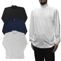 【4 COLOR】CAMBER(キャンバー)【MADE IN U.S.A】 MOCK NECK L/S FINEST TEE SHIRTS(アメリカ製 モックネック/モックタートル 長袖Tシャツ...