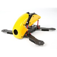 HobbyKing RoboCat 275mm True Carbon Racer Quad (Yellow)