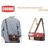 CHUMS チャムス CH60-2085 Mini Shoulder Check Canvasミニショルダーチェックキャンバス ※取り寄せ品
