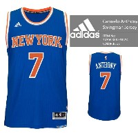 adidas New York KNICKS NBA Carmelo Anthony Swingman Jersey Authentic Blue バスケ レプリカ ユニフォーム ジャージ...