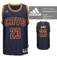 adidas Cleveland Cavaliers NBA LeBron James Swingman Jersey Authentic Blue バスケ レプリカ ユニフォーム ジャージ...