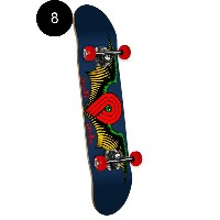 【POWELL PERALTA パウエル・ペラルタ】8in x 32.125in WINGED P COMPLETE ASEMBLYコンプリートデッキ(完成組立品)スケートボード エントリーモデル...