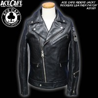 ACE CAFEエースカフェ◆ACE CAFE RIDERS JACKT◆◆ROCKERS LEATHER PATCH◆A31501
