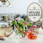 HOLMEGAARD ホルムガード clear H10cmDESIGN WITH LIGHT Pot with leather handle clear H10cm 4343516...