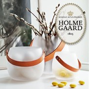 HOLMEGAARD ホルムガード white H12cmDESIGN WITH LIGHT Pot with leather handle white H12cm 4343526...