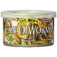ZOOMED カン・オー ワーム CAN O' WORMS 35g 爬虫類 餌 エサ 缶詰