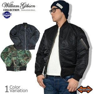 """Buzz Rickson's(バズリクソンズ) """"WILLIAM GIBSON COLLECTION"""" TYPE BLACK MA-1 """"D-TYPE"""" ギブソン フライトジャケット カモ..."""