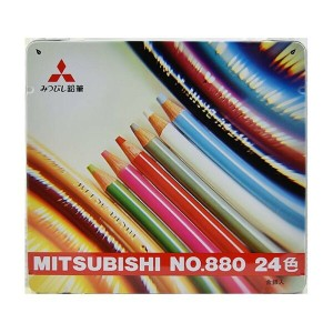 三菱鉛筆 MITSUBISHI PENCIL 色鉛筆 880級 24色 K88024CP