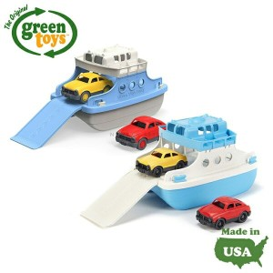 Green Toys フェリーボート ミニカー2台付 グリーントイズ アメリカ製 水遊び お風呂 おもちゃ カーフェリー(メール便不可) 4000円以上 送料無料[NS]