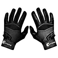 カッターズ メンズ 野球 グローブ 手袋【Cutters Prime Command Solid Batting Gloves】Black