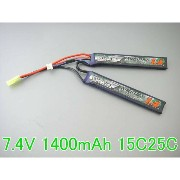 N電動ガンTurnigy nano-tech 7.4V 1400mAh 15C25Cリポ です。