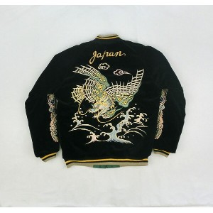 "No.TT13332 TAILOR TOYO テーラートーヨーVELVETEEN SOUVENIR JACKET""FLYING DRAGON & JAPAN MAP"""