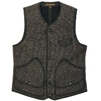 FREEWHEELERS フリーホイーラーズ BRIDGEPORT OUTDOOR STYLE HUNTING VEST GREAT LAKES GMT. MFG.CO. GRAINED BLACK...