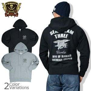 "SWAT ORIGINAL(スワットオリジナル) ミリタリーパーカー 12oz ""SEAL TEAM THREE CHARLIE DEVIL OF RAMADI AMERICAN SNIPER""..."