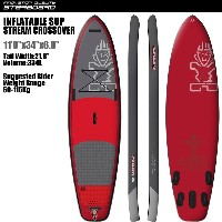 "SUP インフレータブル SUP 11'0""x34"" ストリーム クロスオーバー スターボード STARBOARD 2016 INFLATABLE SUP STREAM CROSS OVERS.U..."
