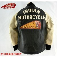 No.IM80400 INDIAN MOTORCYCLE インディアンモーターサイクルHORSE HIDE PHARAOH JACKET DECORATION
