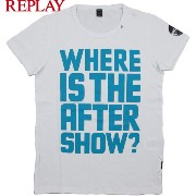 REPLAY/リプレイ M6931S S/S CREW NECK TEE プリント入り、カットソー/半袖プリントTシャツ WHITE(ホワイト)