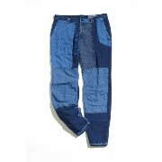 BLUE BLUE JAPANブルーブルー INDIGO COTTON FLANNEL HAND PATCHWORK SLIM PANTS(パッチワーク インディゴ パンツ)