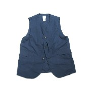 【期間限定30%OFF!】POST OVERALLS(ポストオーバーオールズ)/#1512 ROYAL TRAVELER COTTON BROADCLOTH VEST/midnight