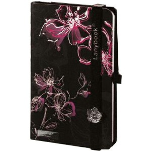 Lany book『Sparkling Flowers(Nero/Rosso + Nero)』A6サイズ【Made in italy】《送料無料》《後払い対応》【文房具 文具 ステーショナリー...