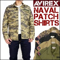 AVIREX (アビレックス) NAVAL PATCH SHIRTS -ミリタリーシャツジャケット- 6165100 【送料無料】プレゼント ギフト