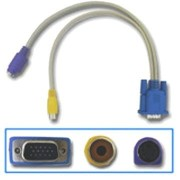 Easi-Cable VGA信号 to S端子変換ケーブル TV-OUT