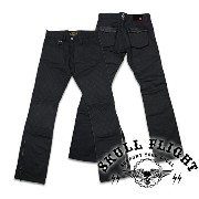 "【SKULL FLIGHT スカルフライト】ボトム/SS PANTS type5 STRETCH ""QUILTING HARD PIQUE POCKET & W KNEE""(ブーツカット)★送料・代..."
