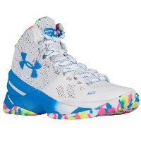 "Under Armour Curry 2 ""SURPRISE PARTY""メンズ White/Mojo Pink/Electric Blue アンダーアーマー バッシュ カリー2 Stephen..."