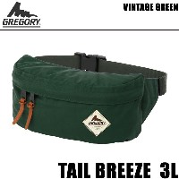 GREGORY グレゴリー ウエストバッグ TAIL BREEZE 3L テールブリーズ ヴィンテージグリーン 657014852 【バックパック・リュックサック】【w27】