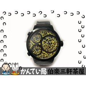 CURTIS&Co.(カーティス)NEW BIG Time WORLD 57mm YELLOW Leopard Dial SW57LY-B クオーツ SS ラバーベルト イエロー レオパード...