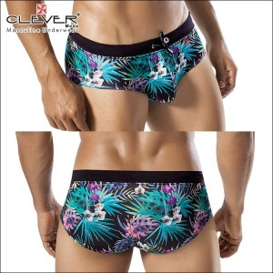 【CLEVER2016-1】 CLEVER クレバー Nigth Jungle Swimsuit Brief Ref,0606 CLEVER スイムパンツ 【男性下着 水着 ボクサー メンズ Men...