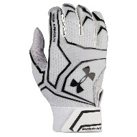 アンダーアーマー メンズ 野球 グローブ 手袋【Under Armour Yard Clutchfit Batting Gloves】White/White/Black