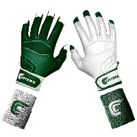 カッターズ メンズ 野球 グローブ【Cutters Prime Command Yin Yang Batting Gloves】Forest Green/White