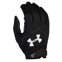 アンダーアーマー メンズ アメフト グローブ【Under Armour Playoff Coldgear II Football Glove】Black/Black/White