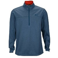 アンダーアーマー メンズ ゴルフ ウェア ジャケット【Under Armour Elemental 1/2 Zip Golf Jacket】Petrol Blue Heather/Fuego...