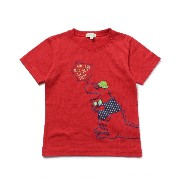 【3can4on(Kids) (サンカンシオン)】オシャレ恐竜くんTシャツキッズ トップス|カットソー・Tシャツ レッド