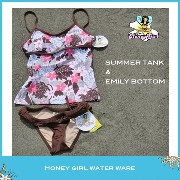 ☆Honey Girl Water Wear☆ハニーガール ウォーターウェア☆made in HawaiiSUMMER TANK & EMILY BOTTOMLOTUS PINK & BROWN...