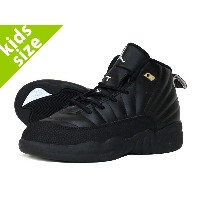 【キッズ サイズ】【16cm-22cm】 NIKE AIR JORDAN 12 RETRO BP 【THE MASTER】 ナイキ エア ジョーダン 12 レトロ BP BLACK/WHITE/METALLIC...