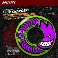 SPITFIRE ウィール 80HD CHARGERS CLASSIC GREEN 54mm/56mm/58mm 【スケートボード ソフト ウィール】【スピットファイア】【日本正規品】【あす楽】