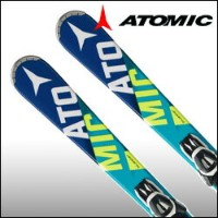 ★ショートスキー板 ATOMIC(アトミック)【15/16・BLUESTER BEND-X + E LITHUM10 L80 BLACK/WHITE】125cm