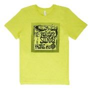 Ernie Ball T-shirt Regular Slinky NEON YELLOW LARGE