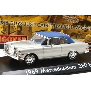 """GREENLIGHT HOLLYWOOD 1:43SCALE """"THE HANGOVER"""" """"1969 MERCEDES-BENZ 280 SE"""" (CLOSED WITH TIGER)..."""