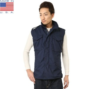 10%OFFクーポン対象商品!新品 デッドストック MADE IN USA M-65コマンドベスト NAVY《WIP》 ギフト プレゼント
