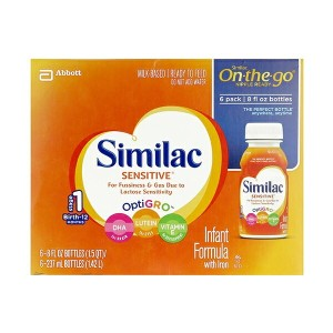 Similac【Sensitive On-the-go 乳児用 液体ミルク 乳糖不耐症 6本セット 12ヶ月未満 乳児用】